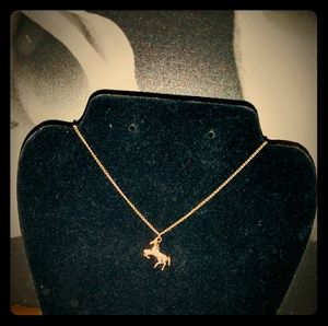 Other - **3for$30** Pretty Goldtone Horse Necklace